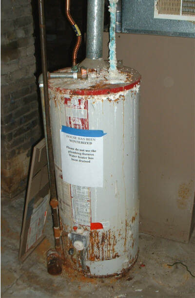 corroded water tank