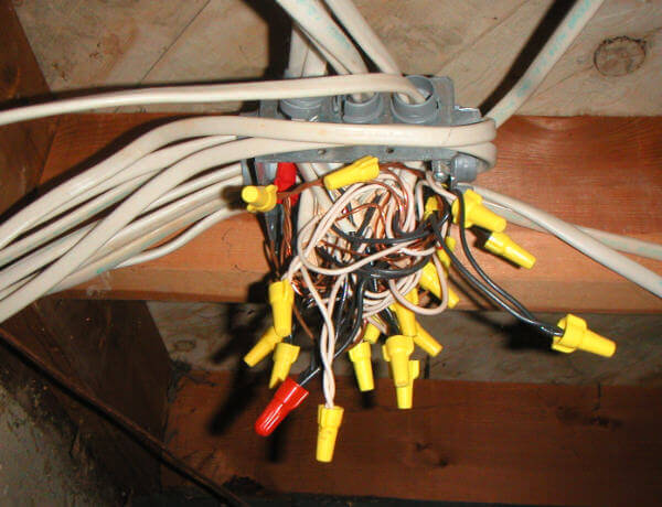 over crowded junction box