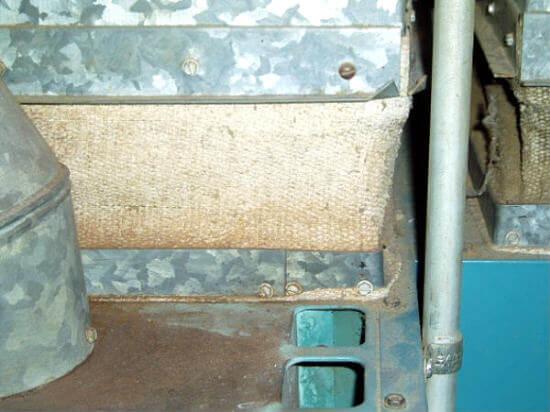 asbestos vibration damper